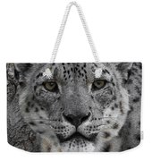 Snow Leopard 5 Posterized Weekender Tote Bag