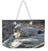 Snow-leopard Weekender Tote Bag