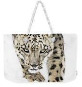 Snow Leopard On The Prowl X Weekender Tote Bag