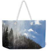 Snow Lift Weekender Tote Bag