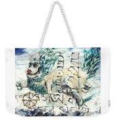 Snow Lion Weekender Tote Bag