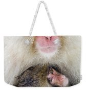 Snow Monkey Love Weekender Tote Bag