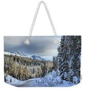 Snow On The Bow Valley Parkway Weekender Tote Bag