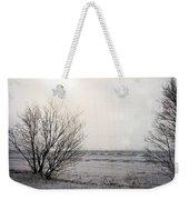 Snow On The Lake Weekender Tote Bag