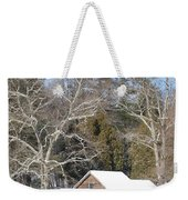 Snow On The Mill 2 Weekender Tote Bag