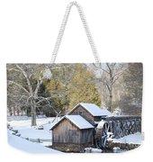 Snow On The Mill Weekender Tote Bag