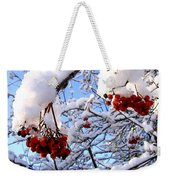 Snow On The Mountain Ash Weekender Tote Bag