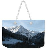 Snow On The Mountains Weekender Tote Bag