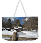 Snow On The Old Time Mill Weekender Tote Bag