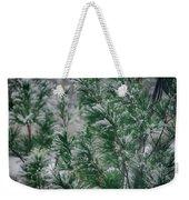 Snow On The Pine Weekender Tote Bag