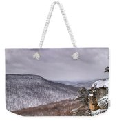 Snow On The Plateau Weekender Tote Bag