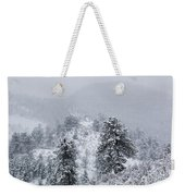 Snow On The Ridge In The Pike National Forest Weekender Tote Bag