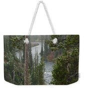 Snow On The Yellowstone River Weekender Tote Bag