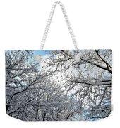 Snow On Trees Weekender Tote Bag