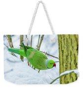 Snow Parrot Weekender Tote Bag