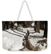 Snow Paths And Winter Shadows Weekender Tote Bag