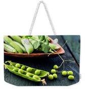 Snow Peas Or Green Peas Still Life Weekender Tote Bag