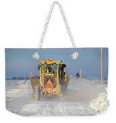 Snow Plowing Weekender Tote Bag