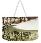 Snow Pond Weekender Tote Bag