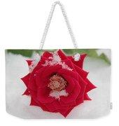 Snow Rose Weekender Tote Bag