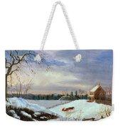 Snow Scene In New England Weekender Tote Bag