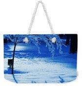 Snow Shadows Weekender Tote Bag