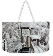 Snow Slide Weekender Tote Bag
