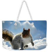 Snow Squirrel Weekender Tote Bag