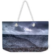 Snow Storm In The Mountains Weekender Tote Bag