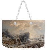 Snow Storm On A Northern Coast Weekender Tote Bag