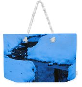 Snow Stream Weekender Tote Bag