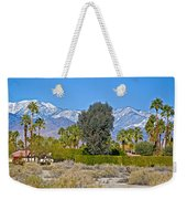 Snow-topped Mountains From Tahquitz Canyon Way In Palm Springs-california  Weekender Tote Bag