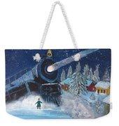 Snow Train Weekender Tote Bag