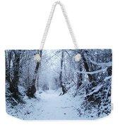 Snow Walk Weekender Tote Bag