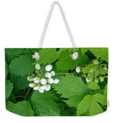 Snow White Berries Weekender Tote Bag