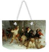 Snowballing Weekender Tote Bag