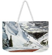 Snowboarding Weekender Tote Bag
