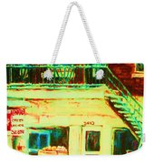 Snowcovered Steps Weekender Tote Bag