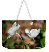 Snowdrop Anemones Weekender Tote Bag