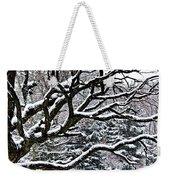 Snowfall And Tree Weekender Tote Bag