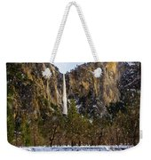 Snowfall Bridalveil Falls Weekender Tote Bag