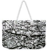 Snowfall On Branches Weekender Tote Bag