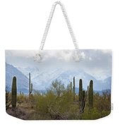 Snowfall On The Mountains Weekender Tote Bag