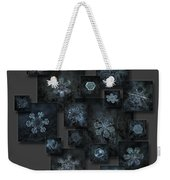 Snowflake Collage - Dark Crystals 2012-2014 Weekender Tote Bag