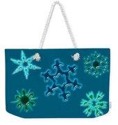 Snowflake Pattern Weekender Tote Bag