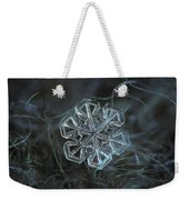 Snowflake Photo - Alcor Weekender Tote Bag by Alexey Kljatov