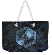 Snowflake Photo - Hex Appeal Weekender Tote Bag by Alexey Kljatov