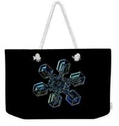 Snowflake Photo - High Voltage IIi Weekender Tote Bag by Alexey Kljatov