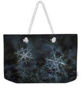 Snowflake Photo - When Winters Meets - 2 Weekender Tote Bag by Alexey Kljatov