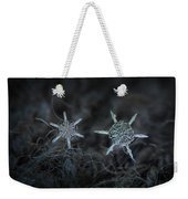 Snowflake Photo - When Winters Meets Weekender Tote Bag